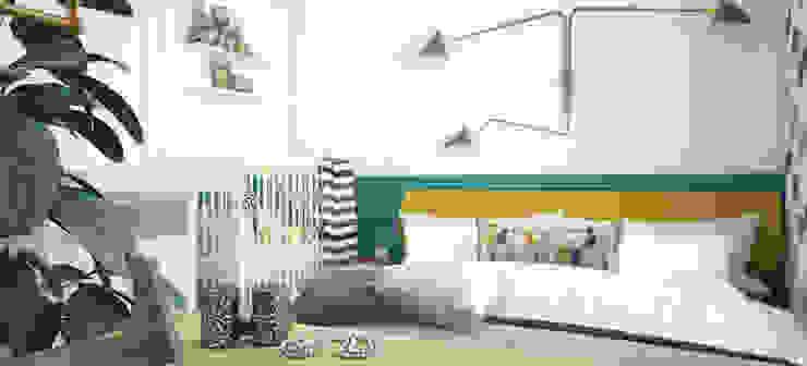 Спальня в квартире на Ленинском проспекте Спальня в эклектичном стиле от «Студия 3.14» Эклектичный