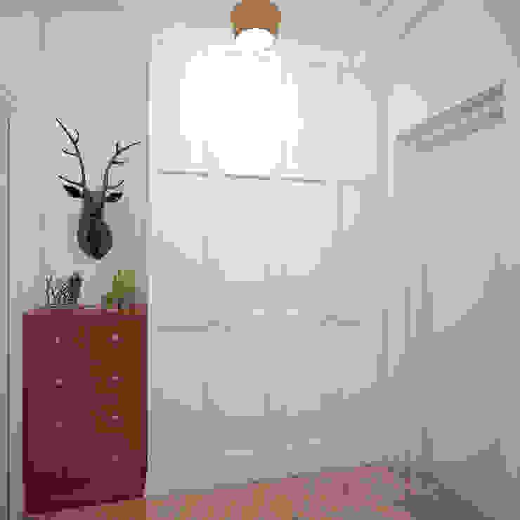 Прихожая в квартире на Ленинском проспекте Коридор, прихожая и лестница в эклектичном стиле от «Студия 3.14» Эклектичный