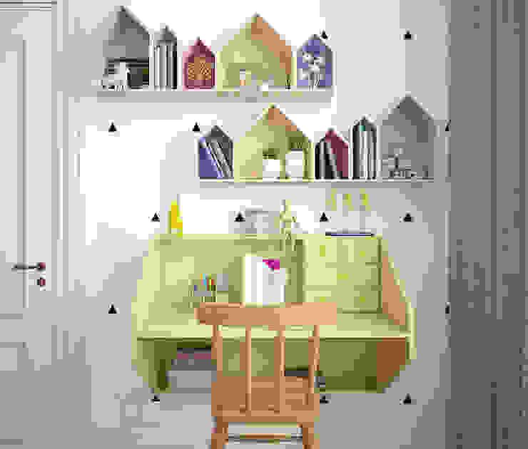 Детская в квартире на Ленинском проспекте Детские комната в эклектичном стиле от «Студия 3.14» Эклектичный