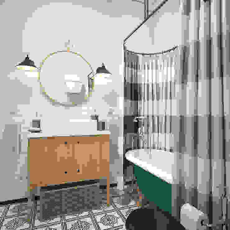 Ванная в квартире на Ленинском проспекте Ванная комната в эклектичном стиле от «Студия 3.14» Эклектичный