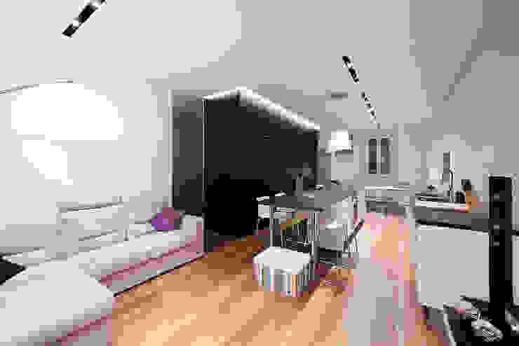 soggiorno e cucina 23bassi studio di architettura Soggiorno minimalista