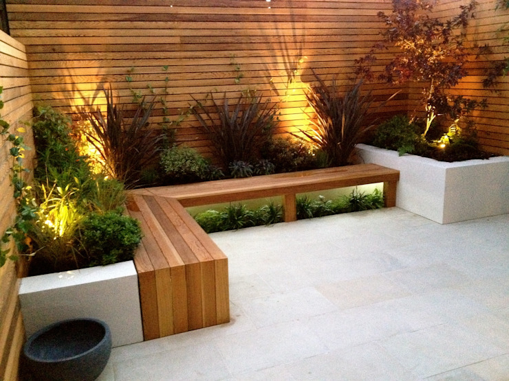 Contemporary Garden Design Balham 모던스타일 정원 by homify 모던