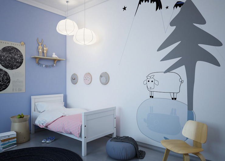 Dormitorios infantiles de estilo  por Humpty Dumpty Room Decoration