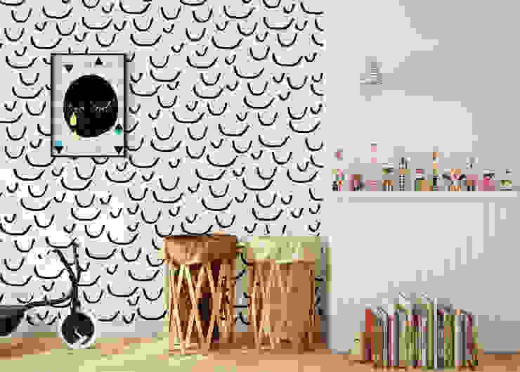 Tapeta dziecięca Smile: styl , w kategorii  zaprojektowany przez Humpty Dumpty Room Decoration,Skandynawski