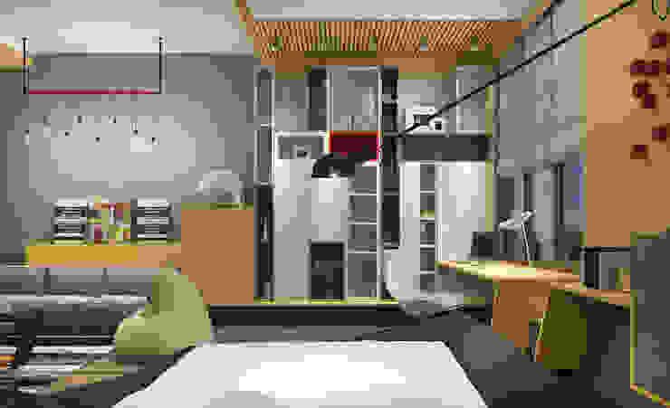 Детские в Московском особняке Детская комнатa в стиле минимализм от Дизайн - студия Пейковых Минимализм
