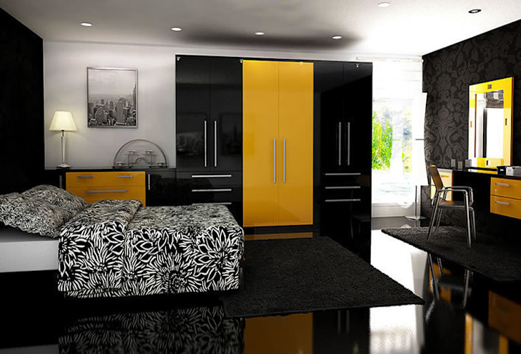 Milan Fitted Bedroom Furniture homify 臥室衣櫥與衣櫃