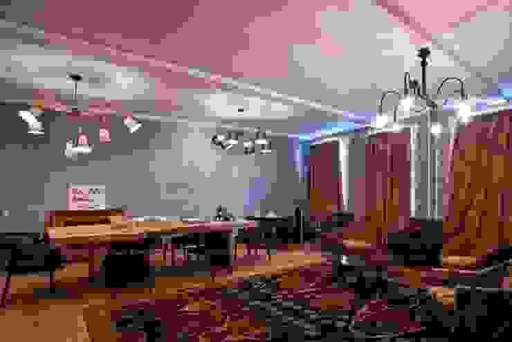 Частная квартира на Цветном Бульваре, г. Москва Гостиные в эклектичном стиле от Дизайн-студия интерьера 'ART-B.O.s' Эклектичный