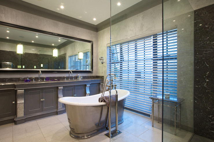 Mallory Limestone floor in a tumbled finish from Artisans of Devizes. Artisans of Devizes Classic style bathroom