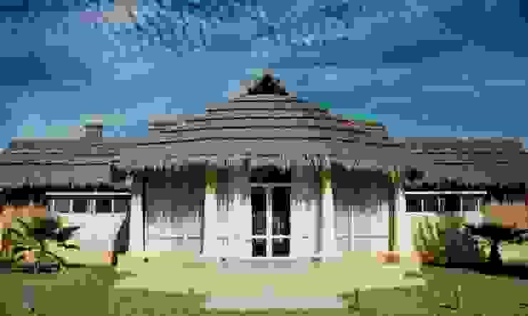 Solares de la Laguna - SALON DE EVENTOS Salones de eventos de estilo rústico de D'ODORICO ARQUITECTURA Rústico