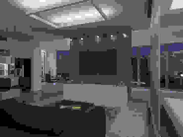 Студия-лофт в Тюмени: визуализация и дизайн Гостиная в стиле лофт от OK Interior Design Лофт
