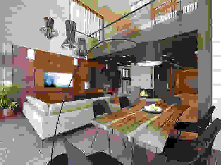 Интерьер загородного дома в Репино (Санкт-Петербург) от ODS Laboratory Architecture & Design