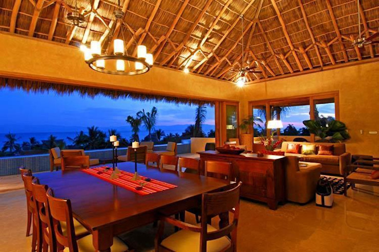 Casa Cariza Comedores tropicales de BR ARQUITECTOS Tropical