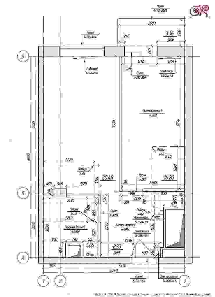 Дизайн 1-комнатной квартиры в стиле 60-х от Дизайн студия Ольги Кондратовой