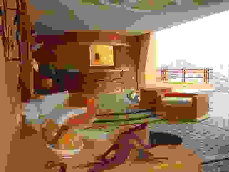 Bar y estancia abierta Balcones y terrazas tropicales de ARQUELIGE Tropical