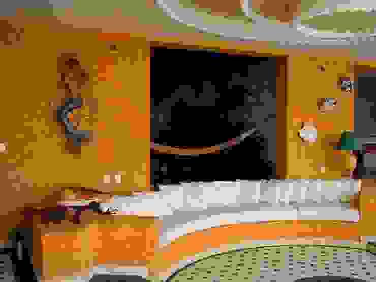 Sala Abierta Balcones y terrazas tropicales de ARQUELIGE Tropical