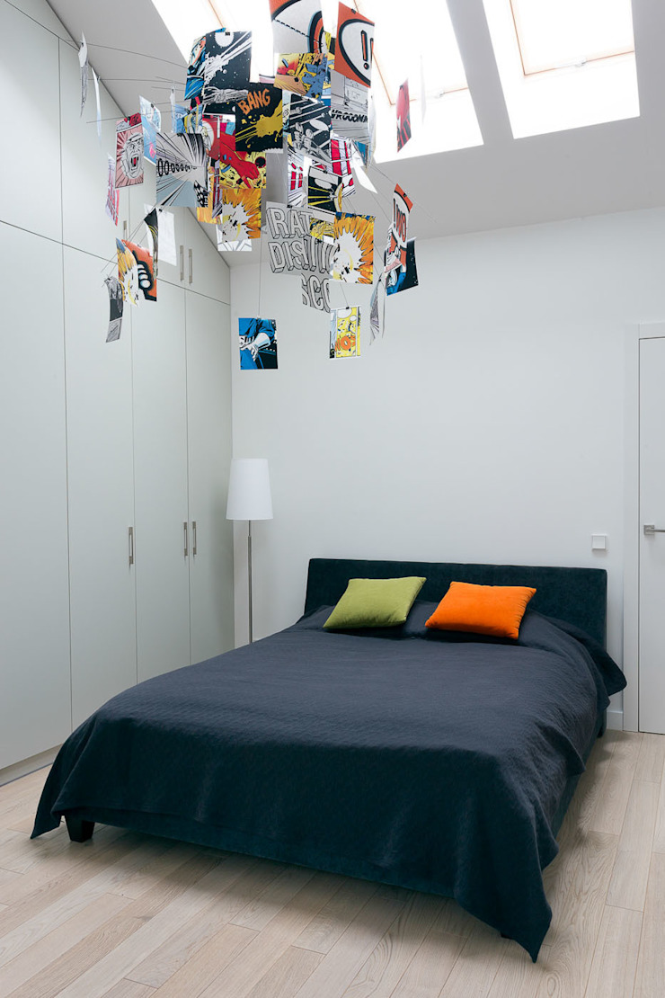 Dormitorios de estilo moderno de Jacek Tryc-wnętrza Moderno