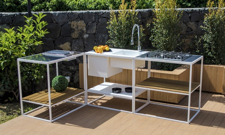 CONSOLLE - OUTDOOR KITCHEN par D'Arrigo External Design Moderne