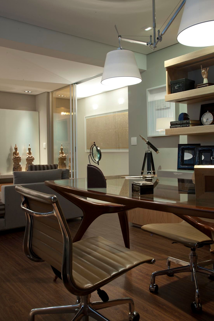 Residência CN Escritórios modernos por Gláucia Britto Moderno