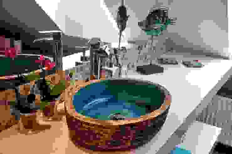 umywalka nablatowa Śródziemnomorska łazienka od dekornia Śródziemnomorski