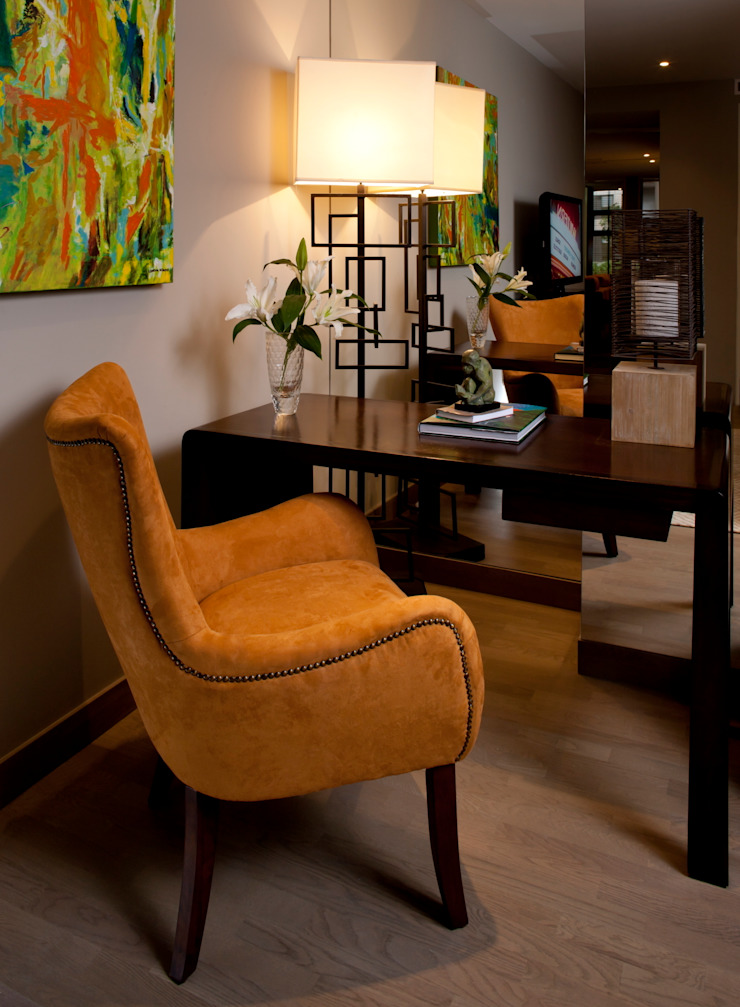 UNUO Interiorismo Eclectic style study/office