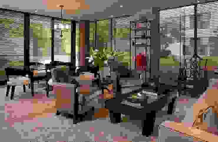 UNUO Interiorismo Eclectic style living room