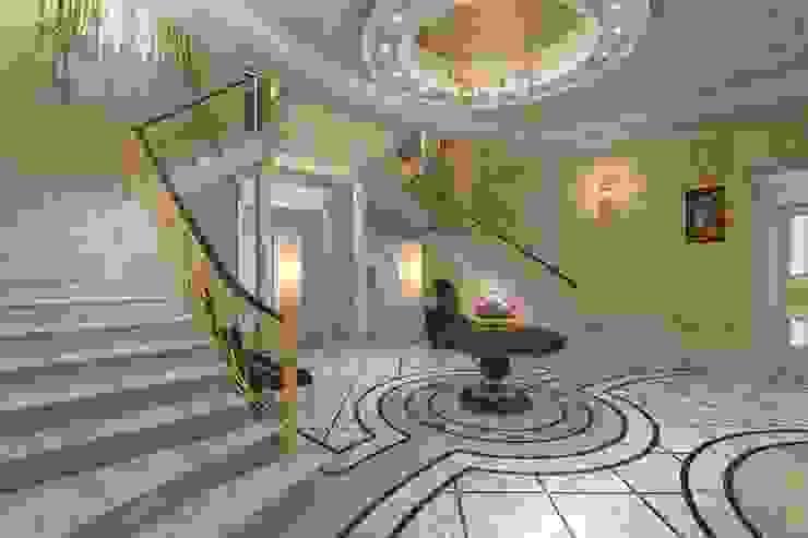 Villa Emirates BenciDesign Ingresso, Corridoio & Scale in stile classico