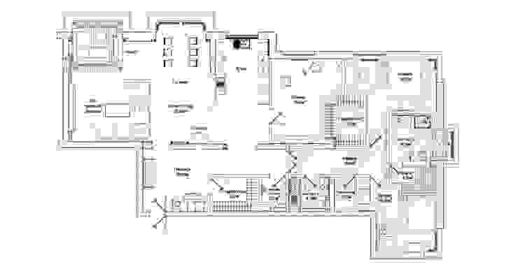 План с мебелью от Sky Gallery Лофт