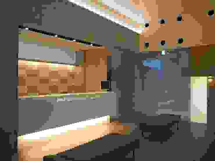 受付カウンター モダンデザインの 多目的室 の 古津真一 翔設計工房一級建築士事務所 モダン