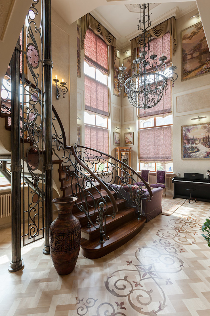 Общая гостиная зона Коридор, прихожая и лестница в средиземноморском стиле от Интерьеры от Марии Абрамовой Средиземноморский