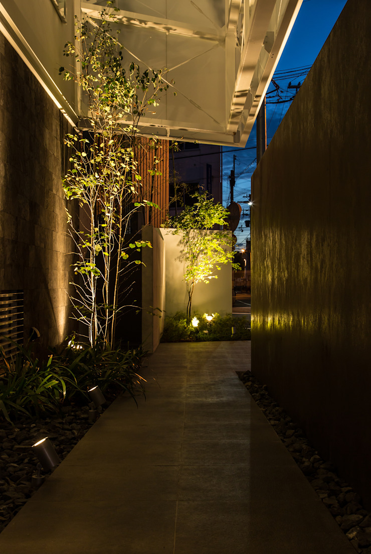 姫島の家 地中海スタイル 玄関&廊下&階段 の Abax Architects 地中海