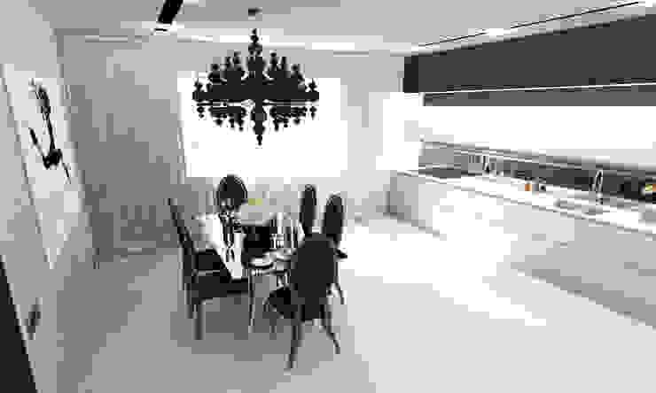 Черно-белая сюита Столовая комната в стиле минимализм от Гурьянова Наталья Минимализм