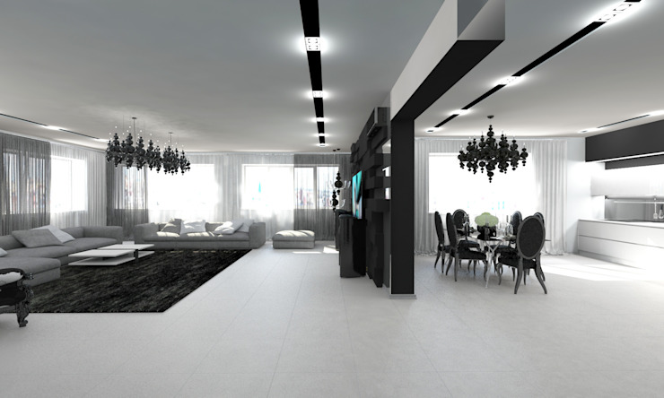 Salas de estar minimalistas por Гурьянова Наталья Minimalista