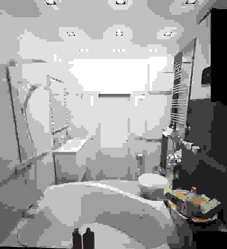 Квартира-студия для молодой девушки Ванная комната в стиле модерн от Гурьянова Наталья Модерн