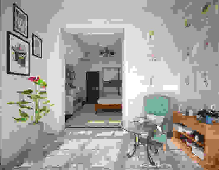 Классическая комната с французским двориком на балконе: Tерраса в . Автор – Гурьянова Наталья