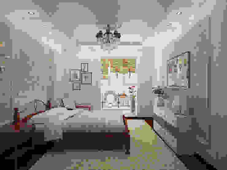 Mediterrane Schlafzimmer von Гурьянова Наталья Mediterran
