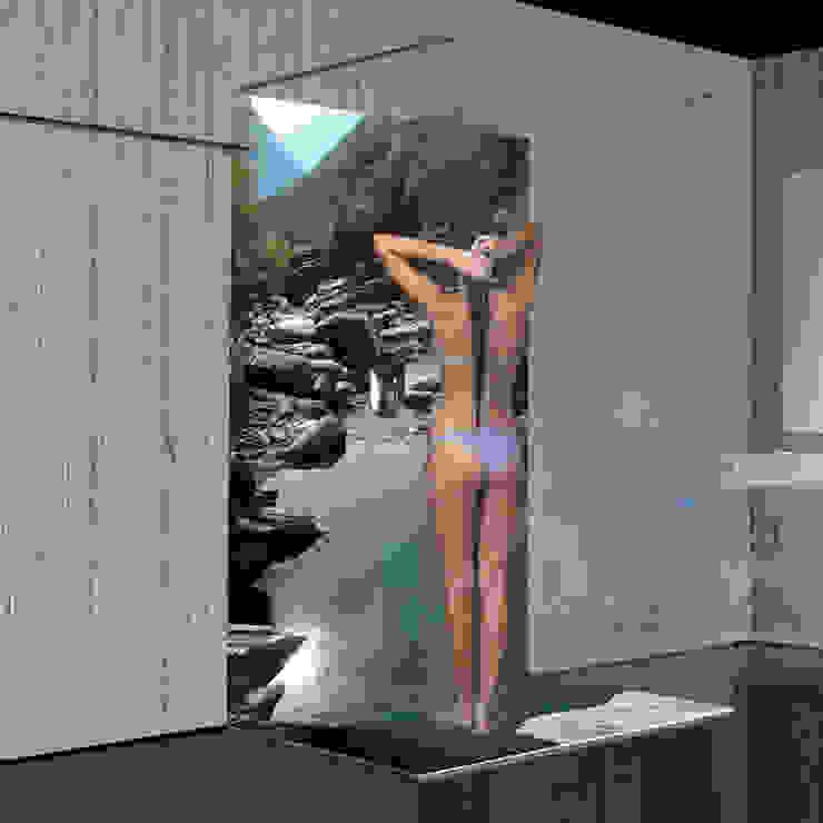 Salle de bain moderne par Mitko Design Moderne Verre