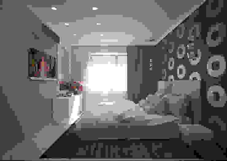 Из однушки – двушка Спальня в стиле модерн от Гурьянова Наталья Модерн
