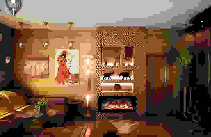 Гостиная в восточном стиле Гостиная в азиатском стиле от Гурьянова Наталья Азиатский