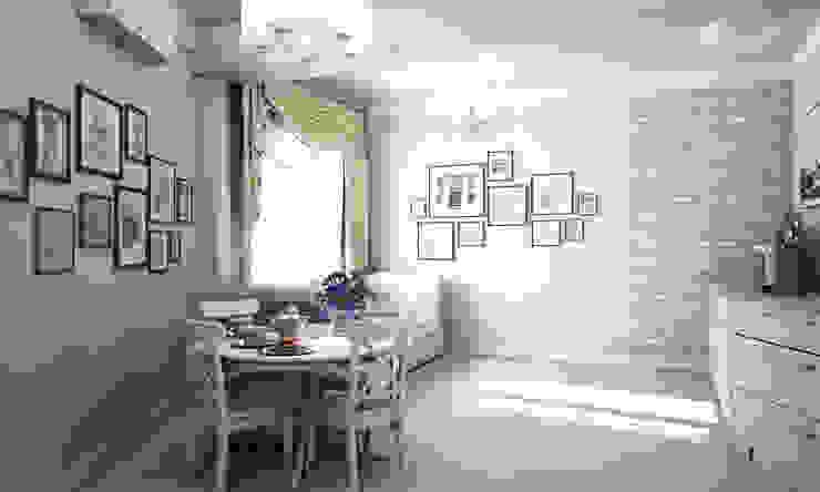 Уютная классика с нотками прованса Столовая комната в средиземноморском стиле от Гурьянова Наталья Средиземноморский