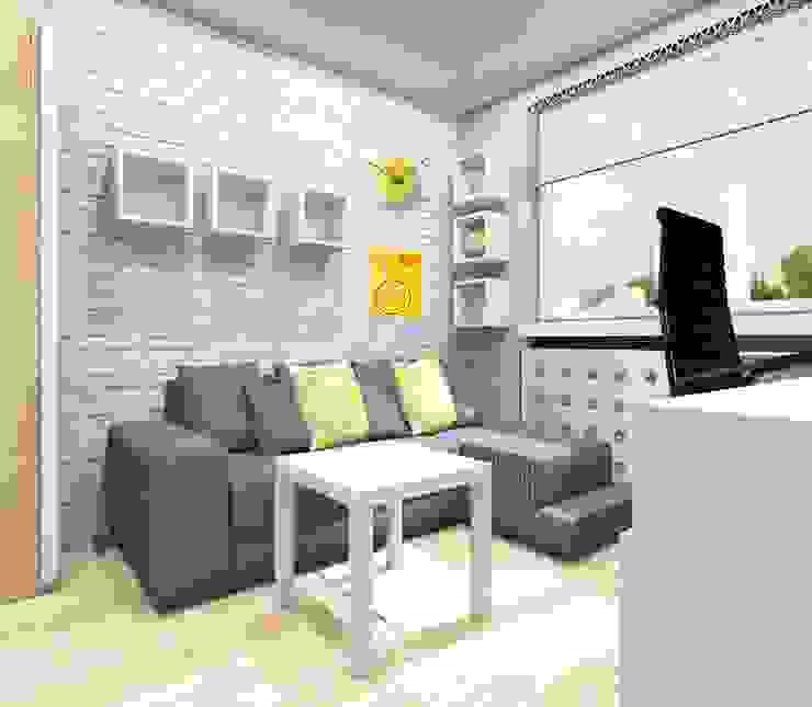 Pokój nastolatka w Dąbrowie Górniczej Nowoczesny pokój dziecięcy od Architekt wnętrz Klaudia Pniak Nowoczesny