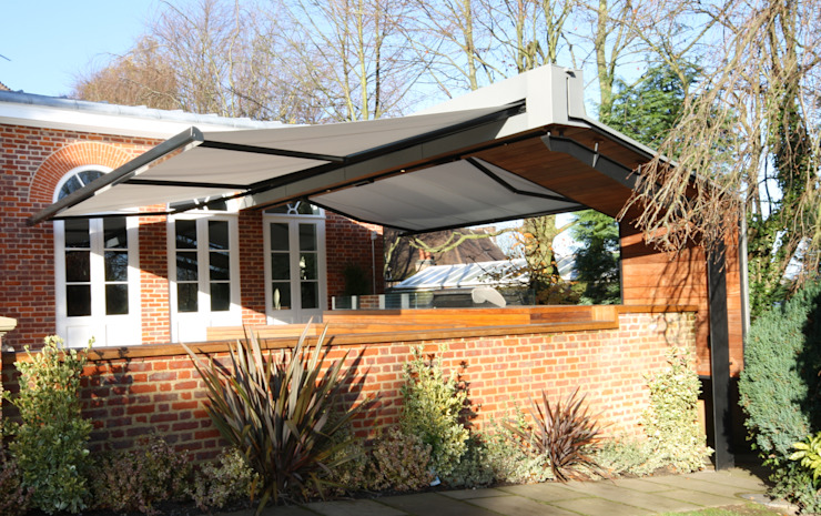 Patio Awning Installation in Cheshire. Modern balcony, veranda & terrace by homify Modern