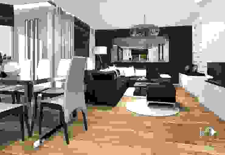 Dom w Dąbrowie Górniczej Nowoczesny salon od Architekt wnętrz Klaudia Pniak Nowoczesny