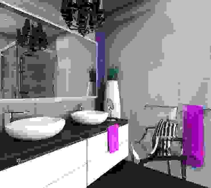 Dom w Dąbrowie Górniczej Nowoczesna łazienka od Architekt wnętrz Klaudia Pniak Nowoczesny
