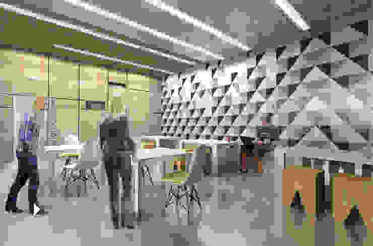 KWADRATY – Centrum edukacyjne & bistro cafe w Katowicach od Architekt wnętrz Klaudia Pniak Nowoczesny