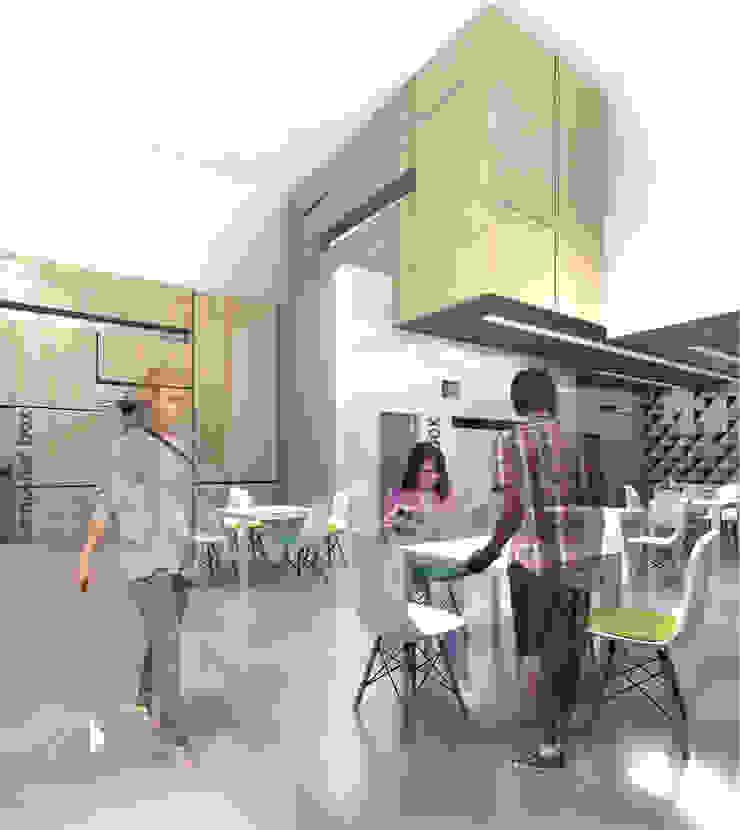 KWADRATY - Centrum edukacyjne & bistro cafe w Katowicach od Architekt wnętrz Klaudia Pniak Nowoczesny