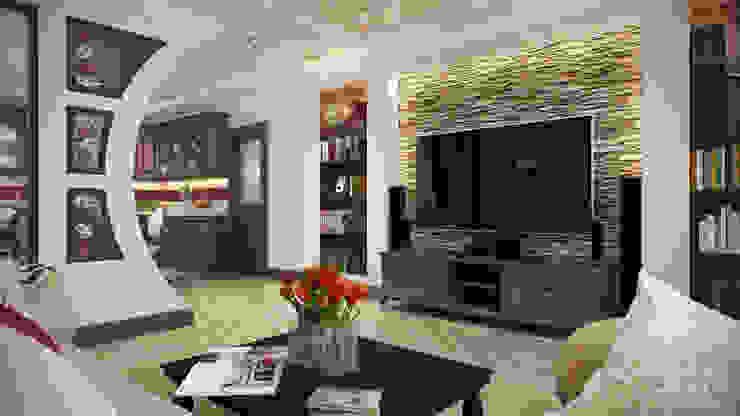 Проект 008: кинозал + кухня + игровая: Медиа комнаты в . Автор – студия визуализации и дизайна интерьера '3dm2'