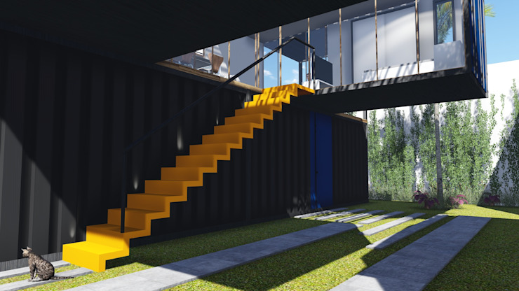 現代房屋設計點子、靈感 & 圖片 根據 ESTUDIOFAROL - ARQUITETURA | DESIGN | URBANISMO 現代風 鐵/鋼