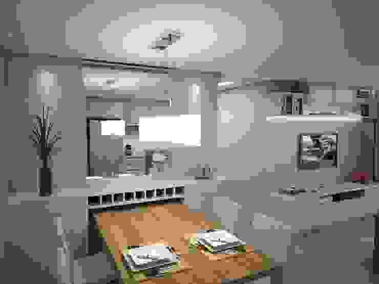 Projeto de Interiores Vila Fanny Salas de jantar modernas por Daarna Arquitetura & Interiores Moderno