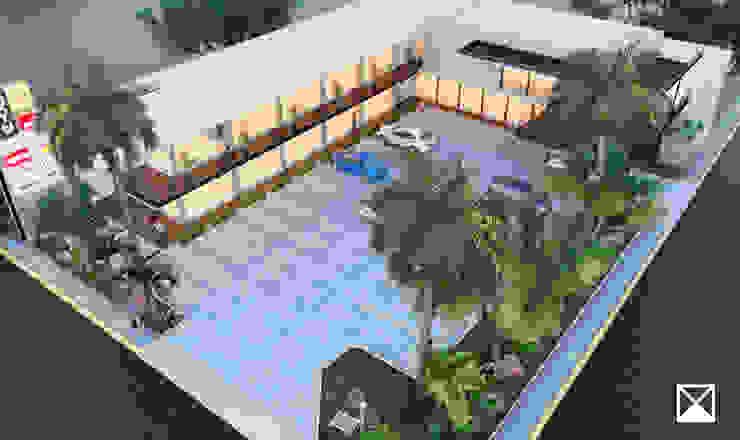 ANGOLO-grado arquitectónico Modern Garden Multicolored