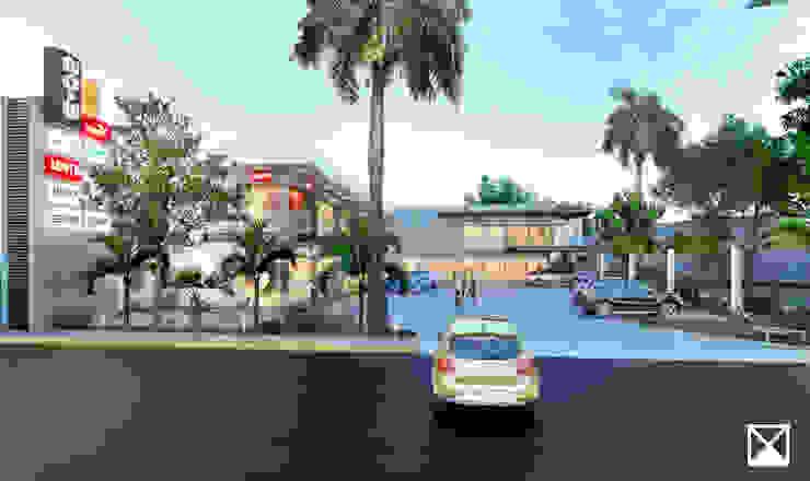 ANGOLO-grado arquitectónico Modern terrace Grey
